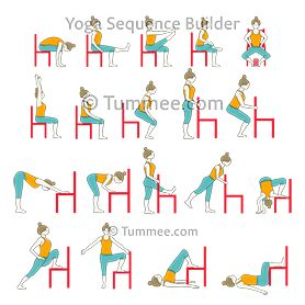 chair hip opening and strength flow yoga  chair yoga