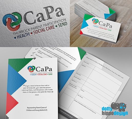 Recent completed project for CaPa Participation Group.    Logo design, Business card, Flyer