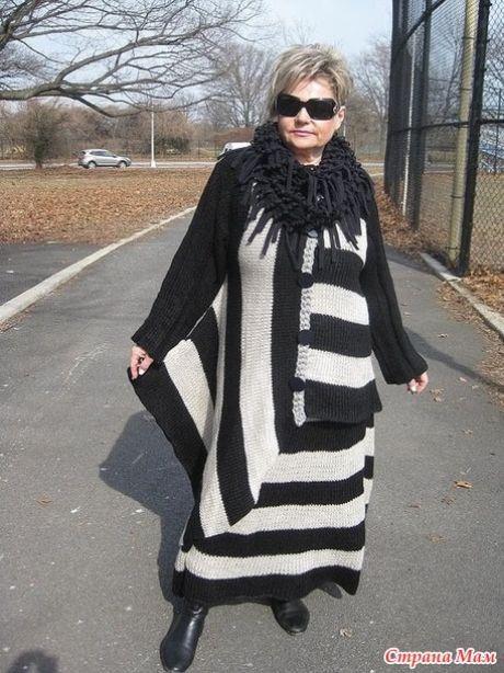 Лариса Scarlatto и её черно-белое бохо. - ВЯЗАНАЯ МОДА+ ДЛЯ НЕМОДЕЛЬНЫХ ДАМ - Страна Мам