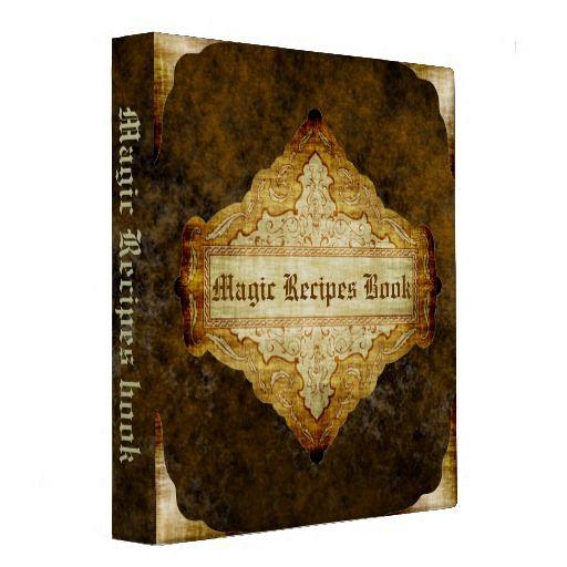 The Magic Recipes book 3 Ring Binders #recipe #recipebook #coobook #retro #book