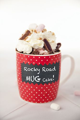 Rocky Road Mug Cake - Ready in 2 Minutes! Delicious! Microwave only!