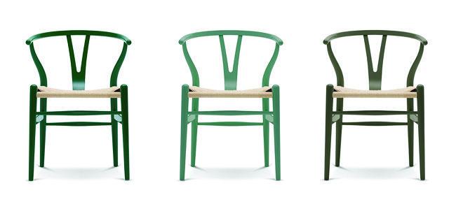 Y-stole i grønne nuancer