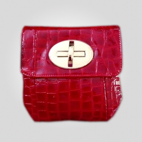 Red Love Loc was $153 now $64.55.   The perfect evening bag or when you just need your credit cards, phone and keys. Flap front closes with a gorgeous golden turn-lock, and the detachable braided or chain strap lets it double as an evening clutch or elegant accessories case.