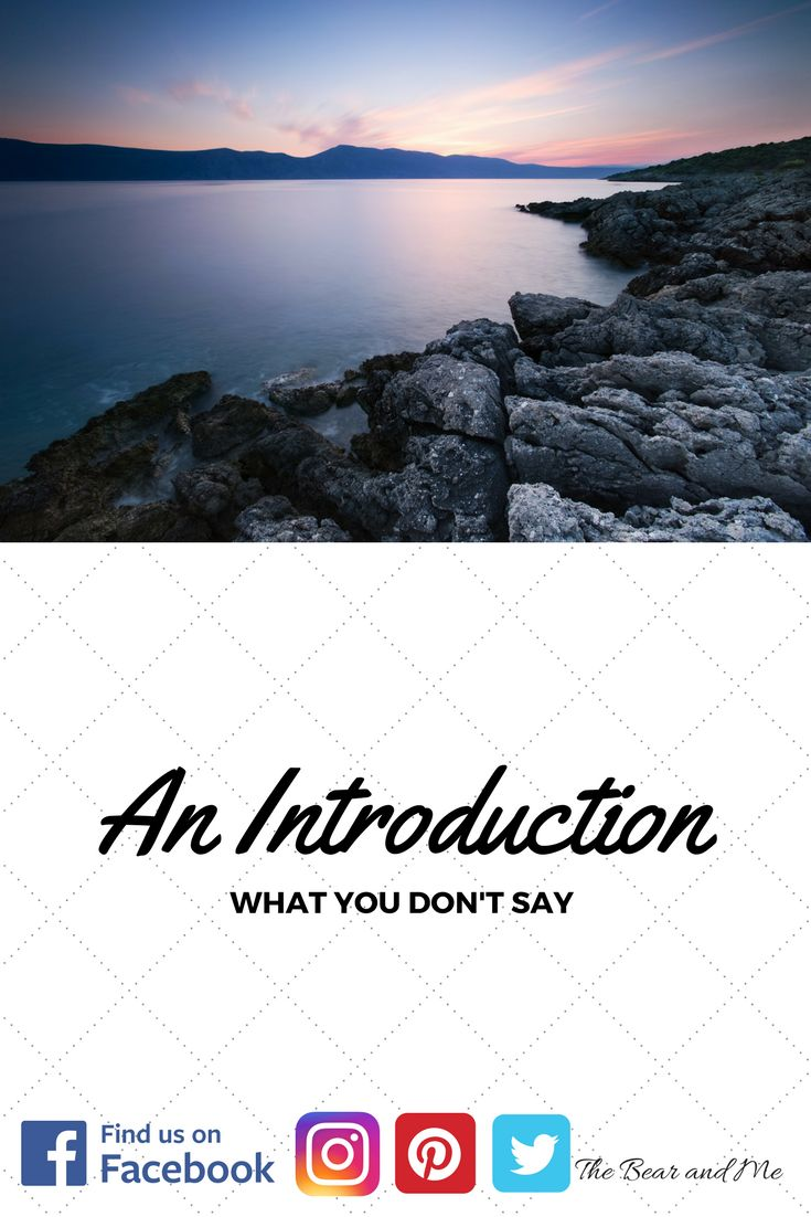 An Introduction - What You Don't Say