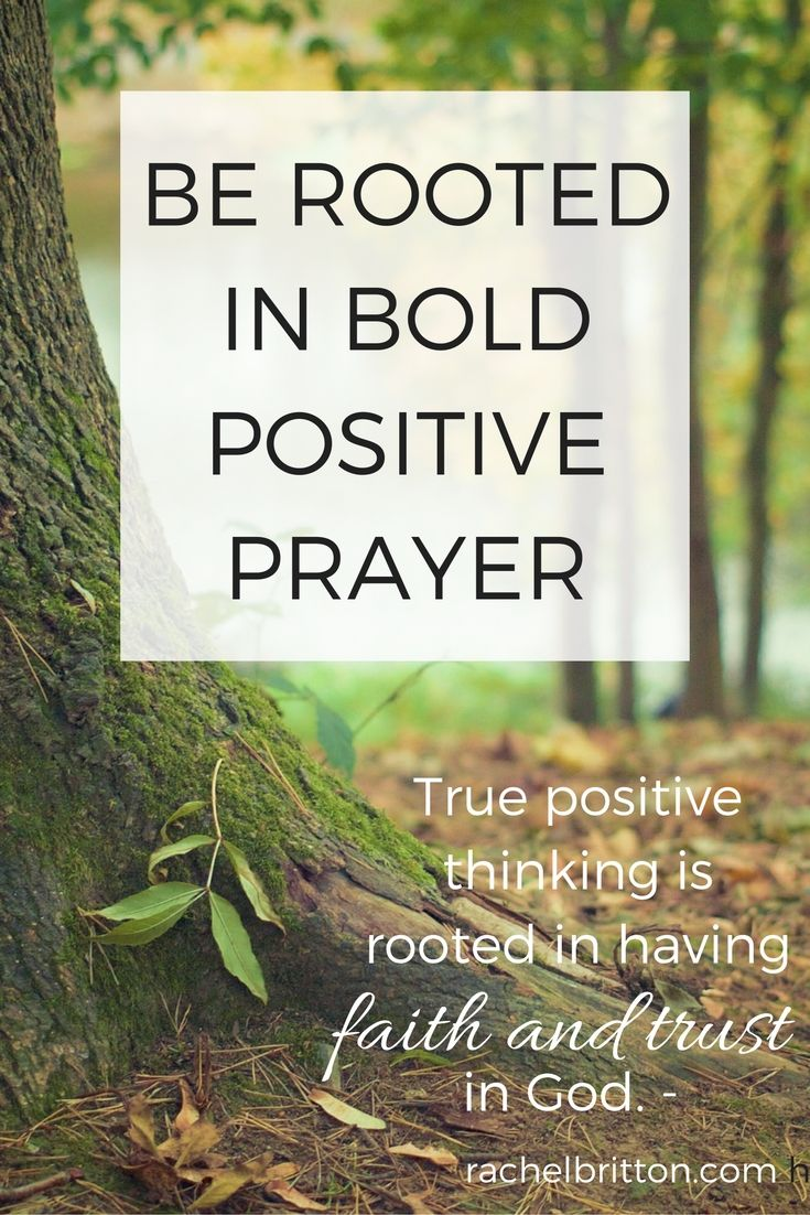 True positive thinking is rooted in having faith and trust God.