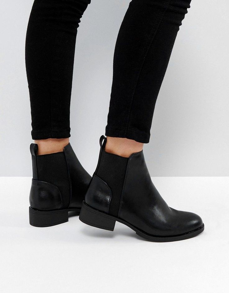 London Rebel Flat Chelsea Boots - Black