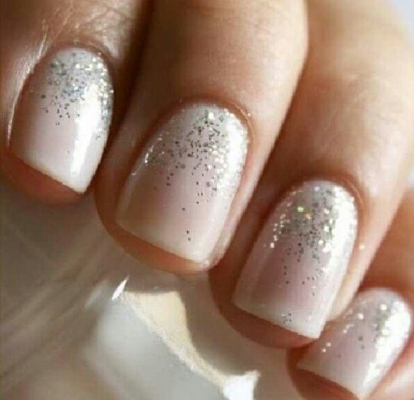 winter/holiday nailsNude Nails, Wedding Day Nails, Wedding Nails, Pretty Nails, Sparkle Nails, Glitter Nails, Winter Nails, Weddingnails, Sparkly Nails