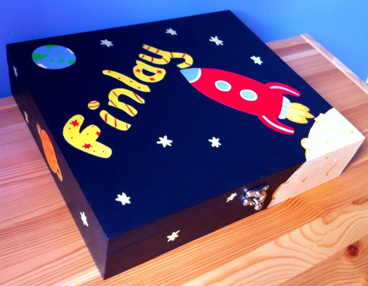 A perfect box for a little spaceman to store all his treasures. Has 12 seperate compartments. See photo of internal compartments