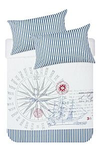 PRINT AND EMBROIDERED COAST DUVET COVER SET