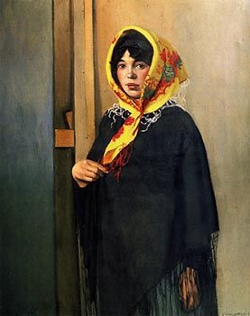 Young Woman with Yellow Scarf (1911) by Felix Vallotton (FR)