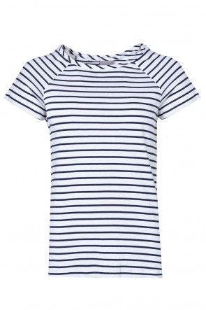 Mester SS Striped Top in White