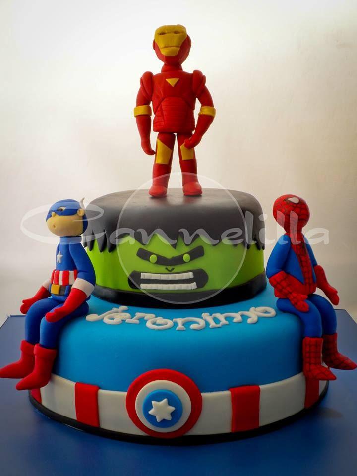 Marvel en Fondant / Marvel's Avenger's... and Spiderman.