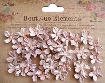 Διακοσμητικά λουλούδια 40 τεμ nude 2cm