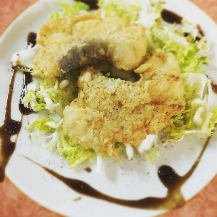 Baccalà fritto con finocchietto selvatico