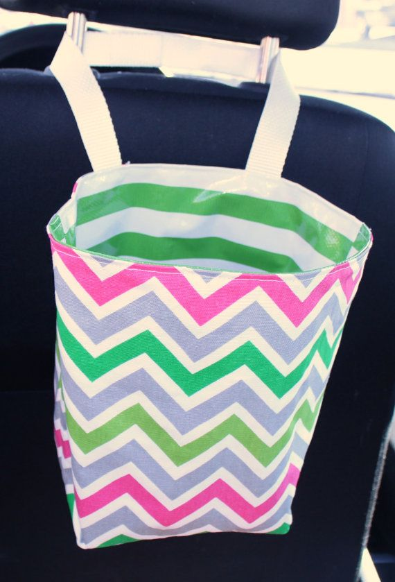 Travel Trash Container Trash Bag Car Accessory by EverSewClever, $16.50