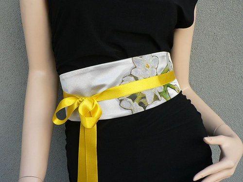 Satin belt summer by wandadesign on Etsy, €50.00