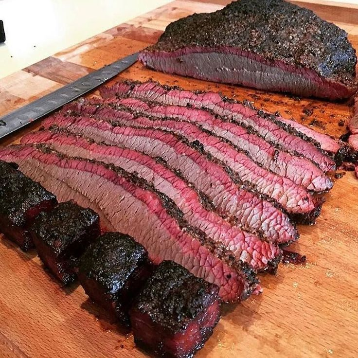 Look at this brisket!!! I want some now starting with the burnt ends. Nice…