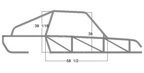 Off-Road Dune Buggy Kits | SCORPION - RIGHT SIDE DIMENSION VIEW