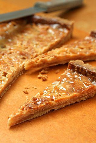 Caramelized Almond Tart recipe (from Chez Panisse) David Lebowitz Blog.