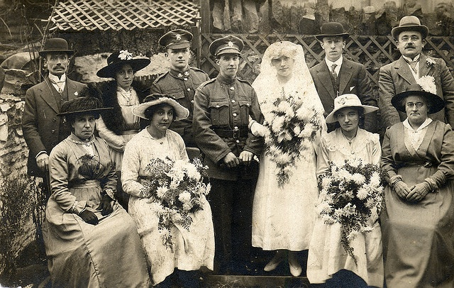 World War I wedding