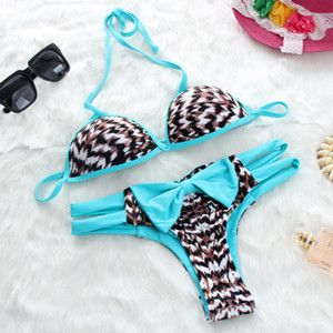 Women Cute Striped Brazilian Bikini Swimwear