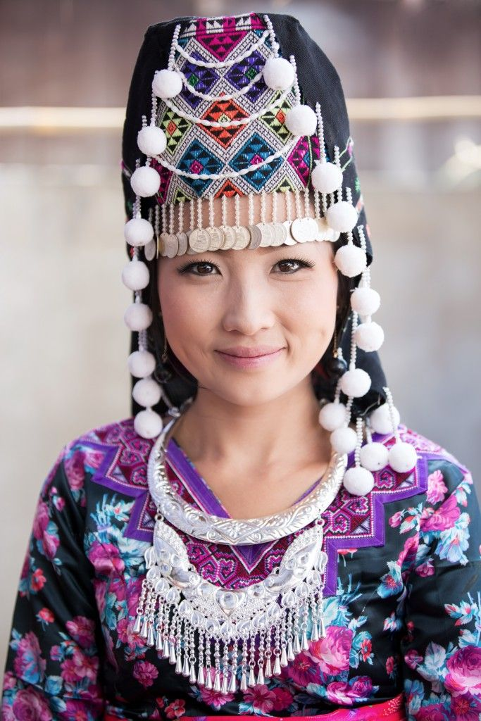 Fascinating diversity of handmade traditional dresses   Photograph by Cyril Eberle #HmongNewYear