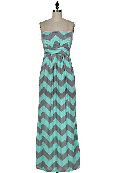 NanaMacs Boutique - Mint Delicacy Chevron Maxi Dress, $38.99 (http://www.nanamacs.com/mint-delicacy-chevron-maxi-dress/)