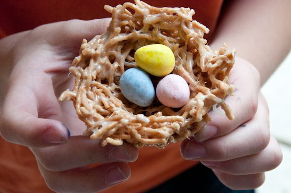 Homemade Easter Egg Nests (Food + Treats)