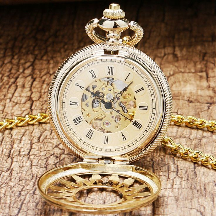 Hollow Gear Skeleton Steampunk Mechanical Pocket Watch