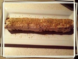 Rose Chocolate Ripple Cheesecake Log