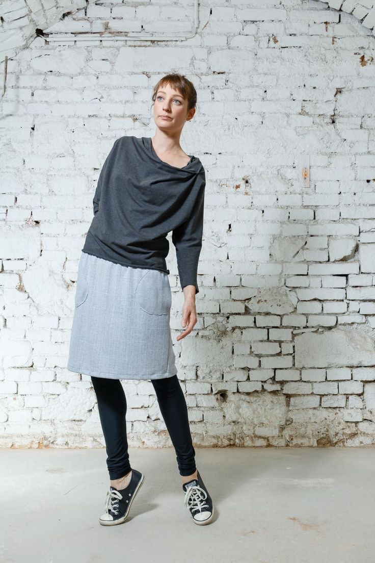 Shirt Simple Wrap grey via DIBA se DIVA. Click on the image to see more!