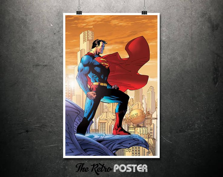 Superman - DC Comics, Comic Book Art, Marvel Poster, Comic Art, Kids Prints, Superhero Print, Boys Room Decor, Boys Bedroom, Boys Prints by TheRetroPoster on Etsy