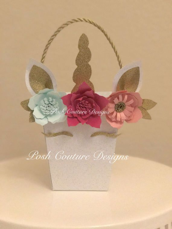 Unicorn Favor Box Unicorn Centerpiece by