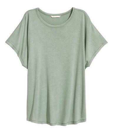 Shirt mit 1/8-Arm | Mattgrün | Damen | H&M DE