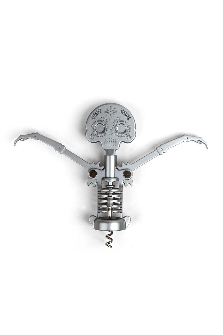 Kikkerland Day Of The Dead Corkscrew. Very Burton`y