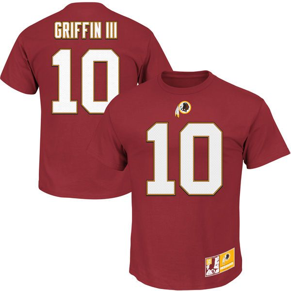 Robert Griffin III Washington Redskins Majestic Eligible Receiver II Name & Number T-Shirt - Burgundy - $14.99