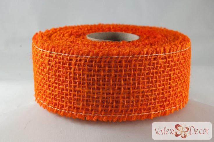 Juta szalag - Narancssárga - Valex Decor Kft. | Virágkötészeti kellékek és dekorációk webáruháza