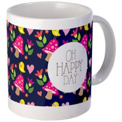 Oh Happy Day!> Pattern-love Mugs> Birdie Says