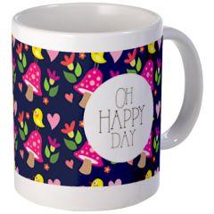 Oh Happy Day!> Pattern-love Mugs> Birdie Says