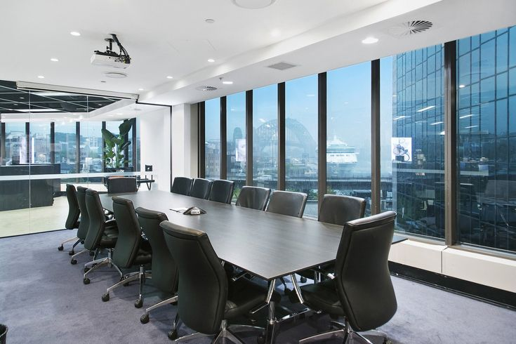 the classy looking boardroom table is in polytec Black Wenge