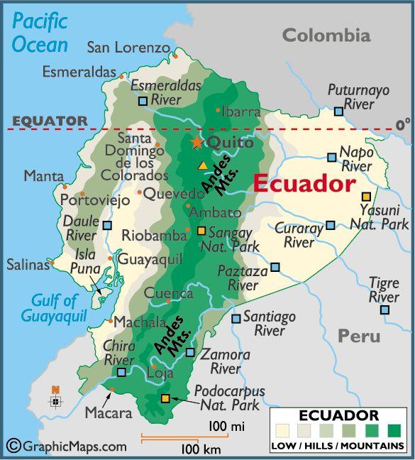 Galapagos And Ecuador Maps Ecuador Galapagos Islands And - Galapagos map