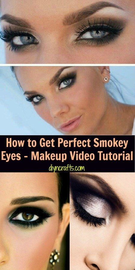 How to Get Perfect Smokey Eyes � Makeup Video Tutorial     like the eyebrows