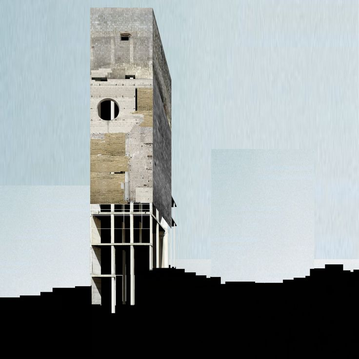 Beniamino Servino. The Shell Tower [in an Anonymous Landscape].