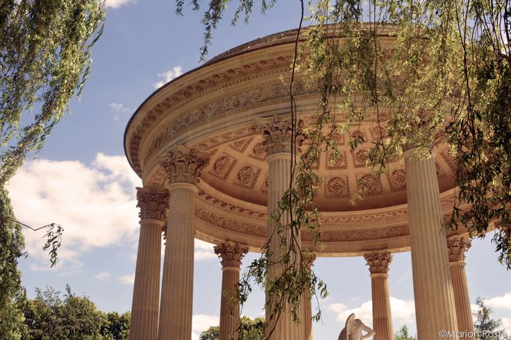 The Temple of Love in the English Garden of the Marie Antoinette's Estate.
