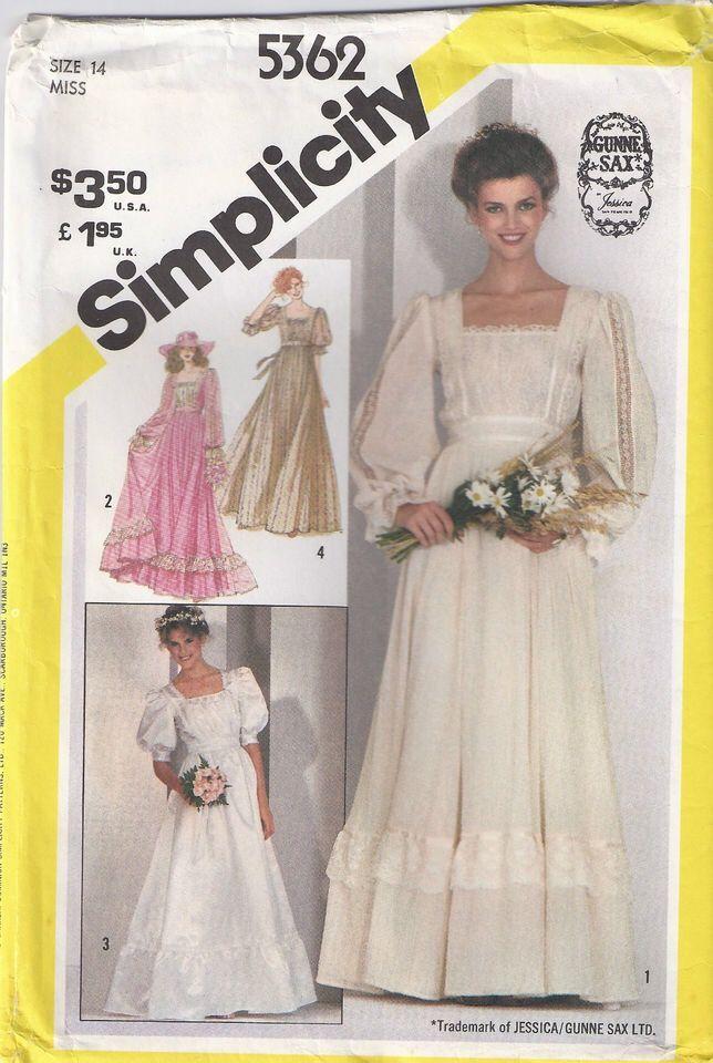 Simplicity 5362 Gunne Sax dress pattern