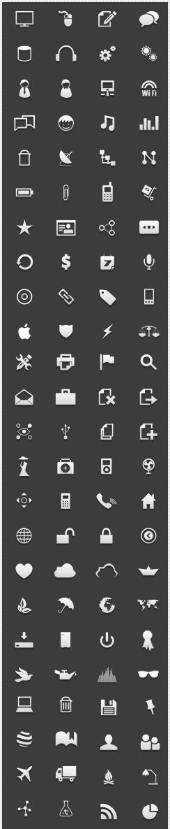 Open source icons preview - Useful for designing infographics and stuff