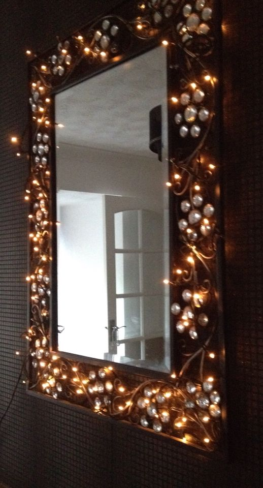 Fairy lights mirror