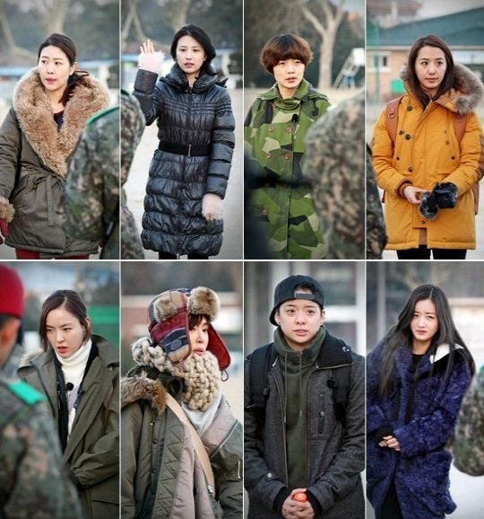 Amber of f(x) and Yoon Bomi of A Pink, actresses Kim Ji Young, Park Ha Sun, Kang Ye Won, and Lee Da Hee, comedienne Ahn Young Mi, and news anchor Lee Ji Ae