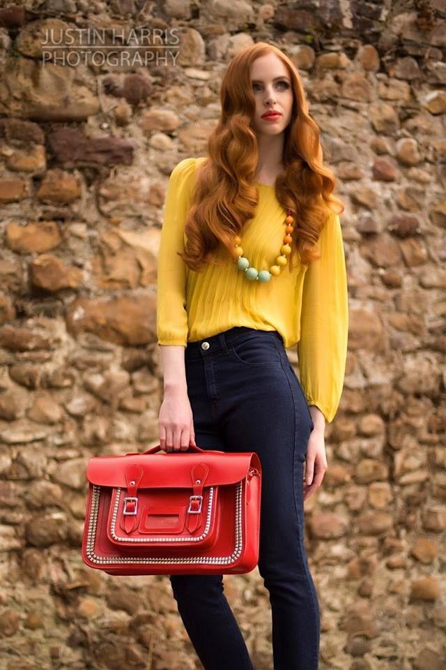 ©2013 JustinHarrisPhotography.co.uk  Orange lips to set off her beautiful alabaster skin & auburn hair #makeup #editorial #FarhanaHennaMUA www.farhana.co.uk