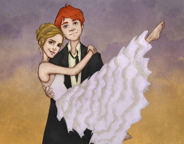 185 Best Ron  Hermione Images On Pinterest  Fan Art -5284